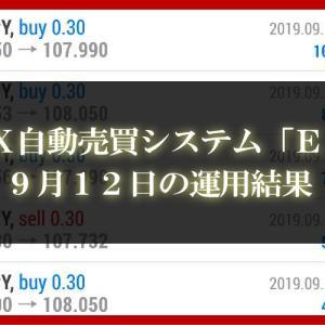 【XM EA】9月11日の運用結果【FX自動売買】