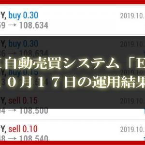 【XM EA】10月17日の運用結果【FX自動売買】