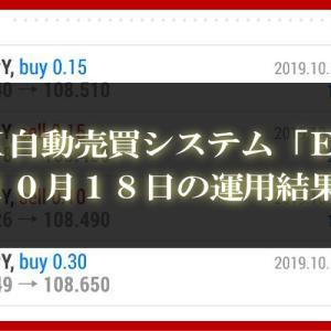 【XM EA】10月18日の運用結果【FX自動売買】