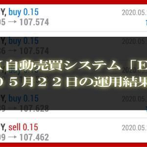 【MT4 EA】05月22日の運用結果【FX自動売買】