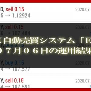 【MT4 EA】07月06日の運用結果【FX自動売買】