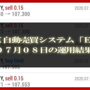 【MT4 EA】07月08日の運用結果【FX自動売買】