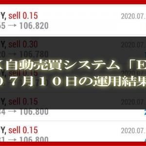 【MT4 EA】07月10日の運用結果【FX自動売買】