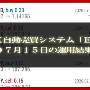 【MT4 EA】07月15日の運用結果【FX自動売買】