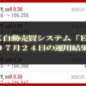 【MT4 EA】07月24日の運用結果【FX自動売買】