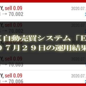 【MT4 EA】07月29日の運用結果【FX自動売買】