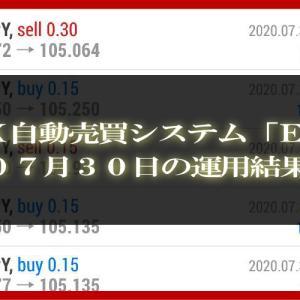 【MT4 EA】07月30日の運用結果【FX自動売買】