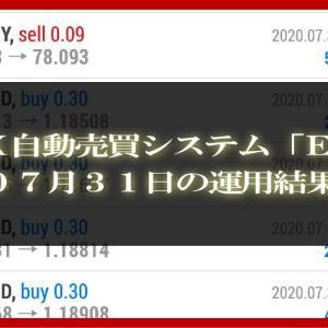 【MT4 EA】07月31日の運用結果【FX自動売買】