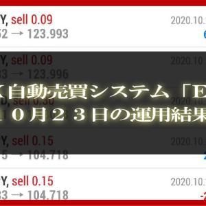【MT4 EA】10月23日の運用結果【FX自動売買】