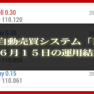 【MT4 EA】06月15日の運用結果【FX自動売買】