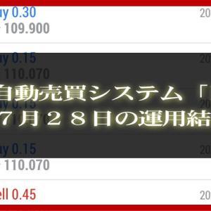 【MT4 EA】07月28日の運用結果【FX自動売買】