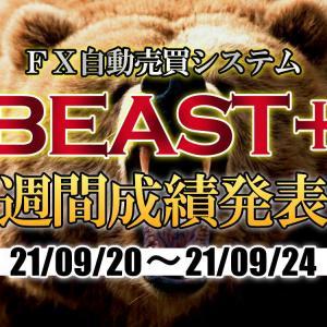 【BEAST+】自動売買EAの成績(21年9月20日~9月24日)