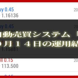 【MT4 EA】10月14日の運用結果【FX自動売買】