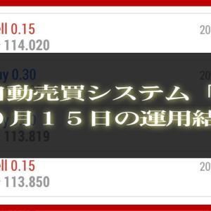 【MT4 EA】10月15日の運用結果【FX自動売買】