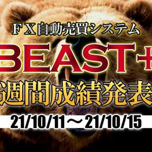 【BEAST+】自動売買EAの成績(21年10月11日~10月15日)