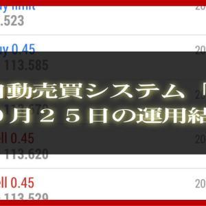 【MT4 EA】10月25日の運用結果【FX自動売買】