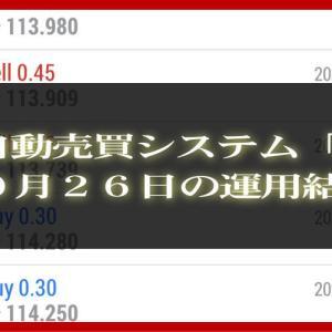 【MT4 EA】10月26日の運用結果【FX自動売買】