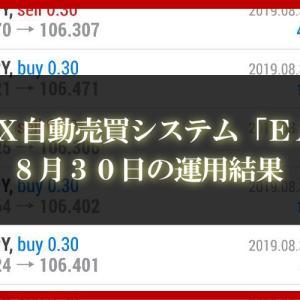 【XM EA】8月30日の運用結果【FX自動売買】