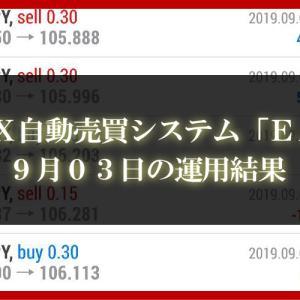 【XM EA】9月03日の運用結果【FX自動売買】