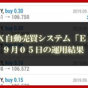 【XM EA】9月05日の運用結果【FX自動売買】