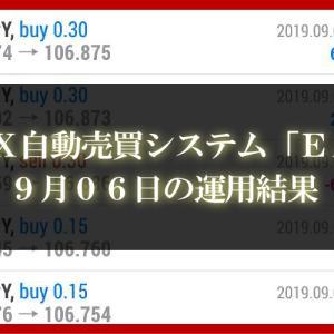 【XM EA】9月06日の運用結果【FX自動売買】