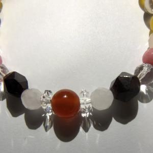明るい赤、オレンジが特徴的 勇気と情熱の石 カーネリアン(パワーストーンメモ017)