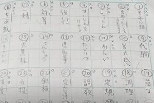 漢字検定の勉強、頑張っています