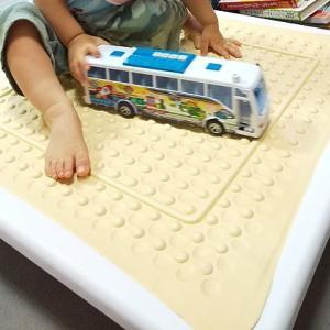 【レビュー】1歳でもジャンピングボード、楽しんでます♪(私の腰にもよさそう?)