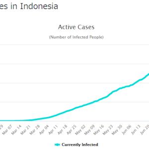 アクティブケース減少中 in Indonesia。