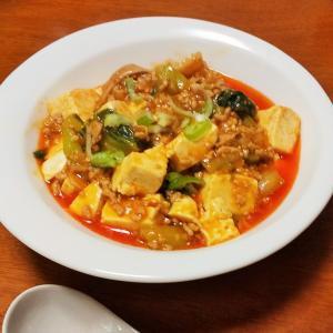 青梗菜マーボ豆腐♪菜花のお浸し♪