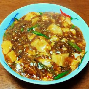 ニンニクの芽入り四川風麻婆豆腐を作りました(^o^)