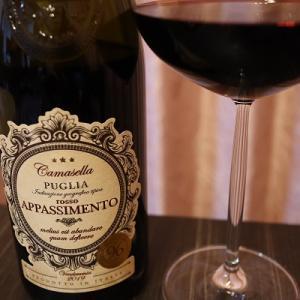禁酒明けにパンチのある赤ワイン。カマセーラ ロッソ アパッシメント。