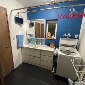 【入居後WEB内覧会】回遊式の洗面所