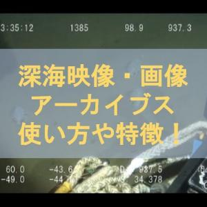 【深海映像・画像アーカイブス(J-EDI)】使い方やサイトの特徴を紹介!