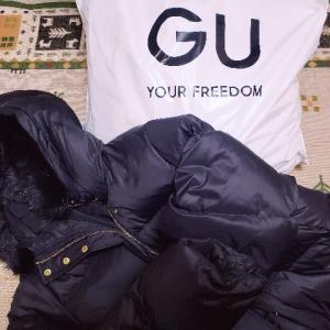 GUのロングダウンコート買いました