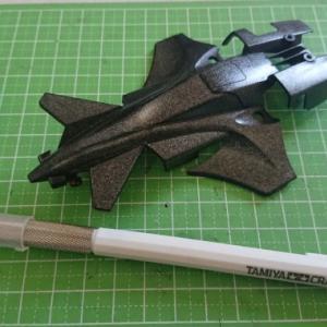 スーパーTZ-Xシャーシにはレイホークガンマを…ボディの肉抜きをしてみる。【奮闘記・第188走】