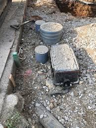 私道のガス管・水道管の掘削(横浜市金沢区戸建て)