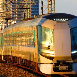 新越谷 夕日に照らされる東武車両 500,50050,70000系 2018.12.14ver