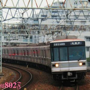 いろいろな車両と離合する日比谷系8両。【東武スカイツリーライン】