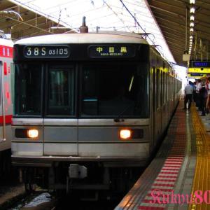 写真映えする日比谷系8両と困り顔する13000【東京メトロ日比谷線】