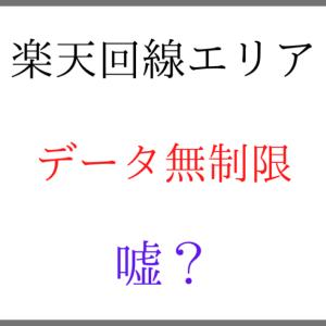 【嘘?】Rakuten UN-LIMITは楽天回線エリアなら本当にデータ使い放題?無制限?