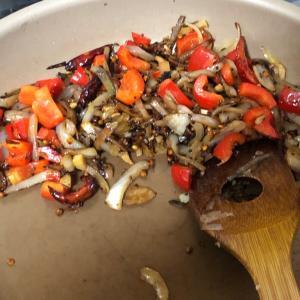【カリフラワーとひよこ豆のヘルシーカレー】を作りました