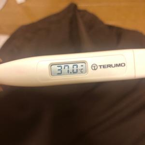 体温、大台にのった。