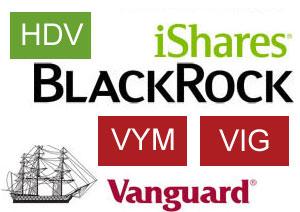 VYM、HDV、VIGの構成銘柄を中心に比較する