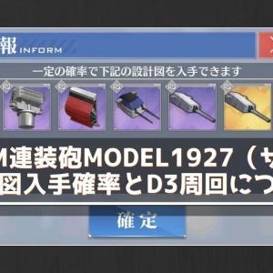 【アズレン】203mm連装砲Model1927(ザラ砲)の設計図入手確率とD3周回について【アズールレーン】