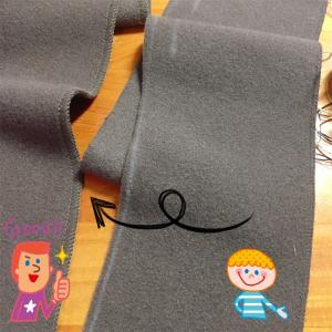 針仕事始め - ダブルフェイスコートをロックミシンで裾上げ