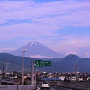 梅雨時に・・富士山が・・見えたのにゃ