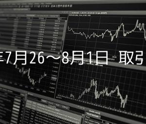2020年のFX損益状況(7月26日〜8月1日)
