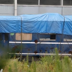 東武デビューのスハフ14と相反して板で塞がれたオロ12、HP上では動態保存車両・・・