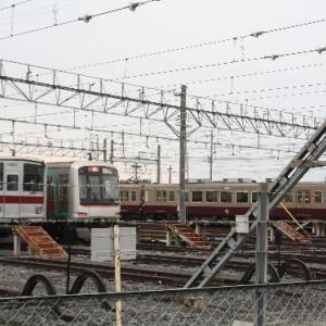 南栗橋で東武9152Fと6050系リバイバルカラー、350系との並び!かつての地下鉄直通仲間とも・・・